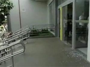 Banco assaltado em Carolina, MA (Foto: Reprodução: TV Mirante)