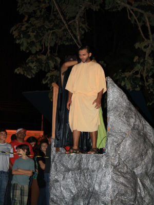 Os integrantes da peça não perceberam que ele havia se enforcado de verdade (Foto: Sandro Azevedo - Virtual Guia)