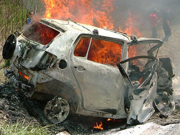 Acidente na BR-232, no Agreste de Pernambuco (Foto: Cirano Veras / Acervo pessoal)