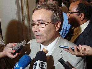 Secretário de Educação da Paraíba, Harrison Targino  (Foto: Jhonathan Oliveira/G1)
