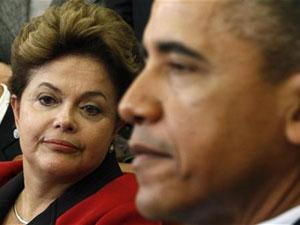 Dilma e Obama durante encontro na Casa Branca (Foto: Reuters)