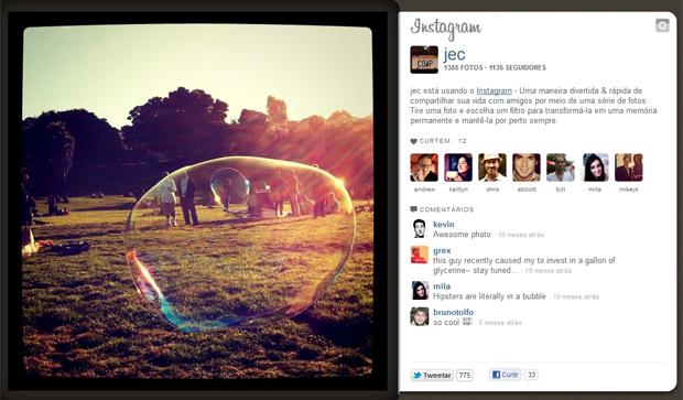 Um dos primeiros testes de imagem publicados pelo Instagram, em setembro de 2010 (Foto: Reprodução)