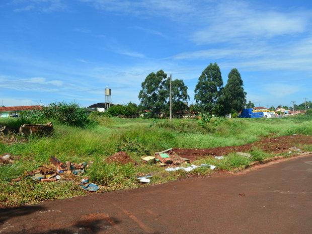 Terreno municipal no Jardim Cruzeiro do SulII em Araraquara (SP) (Foto: Rodrigo Maia/G1)