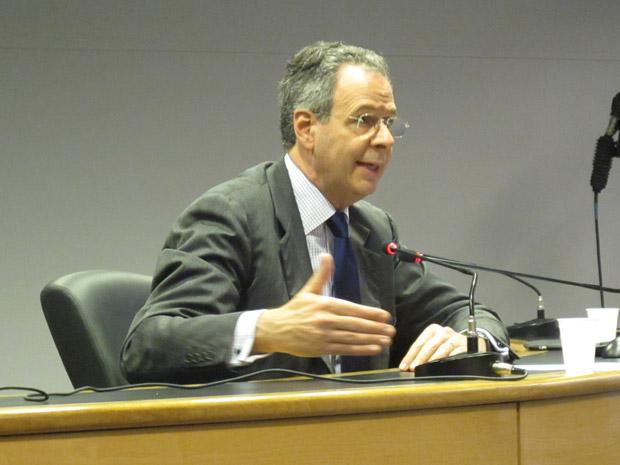 Negociador-chefe da delegação brasileira André Corrêa do Lago durante evento sobre a Rio+20 em São Paulo (Foto: Eduardo Carvalho / Globo Natureza)
