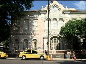 Fachada da reitoria da EMC da Unirio (Foto: Reprodução/TV Globo)