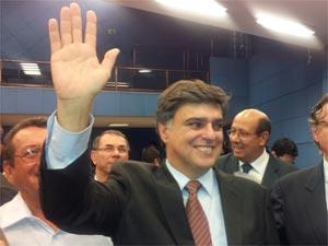 Pedro Serafim Jr, do PDT, após eleição para prefeito na Câmara de vereadores de Campinas (Foto: Luciano Calafiori/G1)