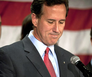 santorum (Foto: JEFF SWENSEN / GETTY IMAGES NORTH AMERICA / AFP)