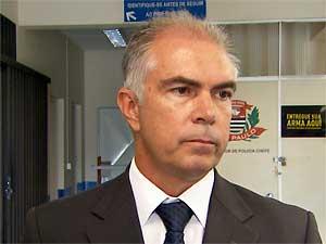 Delegado titular de Vinhedo, Álvaro Santucci Noventa Júnior (Foto: Reprodução EPTV)