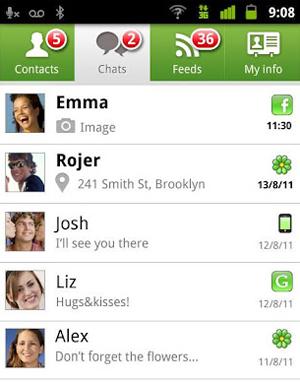 Tela do aplicativo do ICQ para Android (Foto: Reprodução)