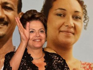 Dilma durante cerimônia do programa Minha Casa, Minha Vida (Foto: Roberto Stuckert / PR)