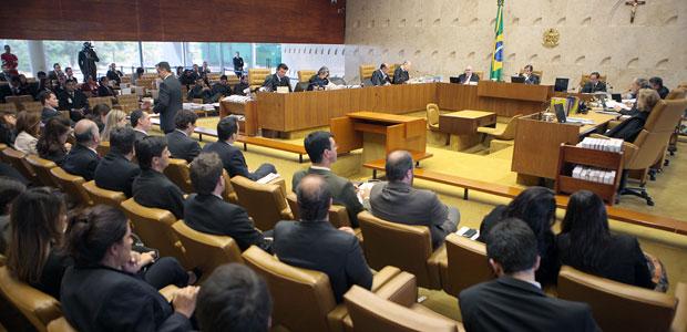 Plenário do STF durante julgamento do aborto de feto sem cérebro (Foto: Nelson Jr. / STF)