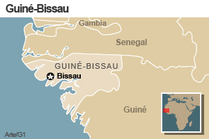mapa guine bissau (Foto: arte g1)