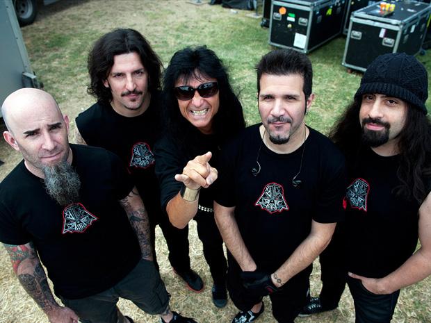 Os integrantes do grupo Anthrax (Foto: Divulgação)