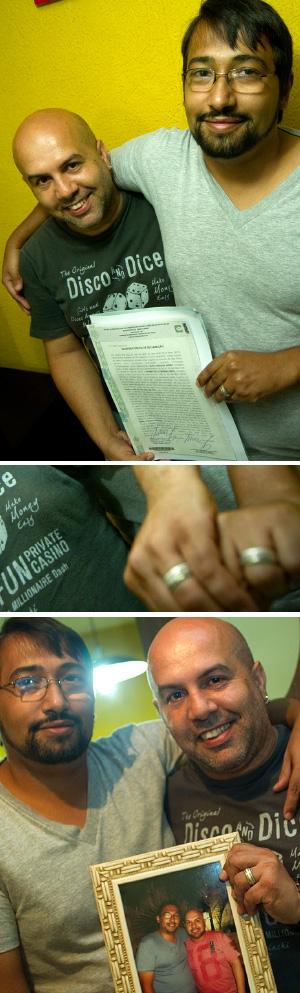 casal gay benefício negado senac (Foto: Flavio Moraes/G1)