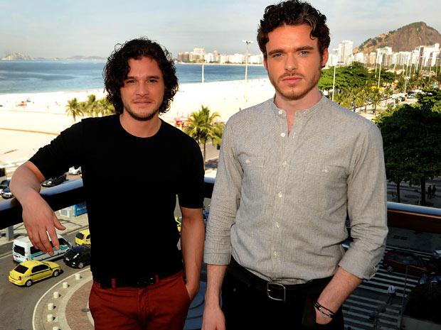Kit Harington e Richard Madden, respectivamente Jon Snow e Robb Stark (Foto: Divulgação / Luciana Tancredo)