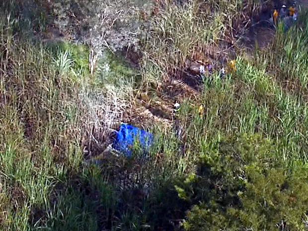 Local do acidente fica a 500 metros do aeródromo do Broa em Itirapina (Foto: Reprodução/EPTV)