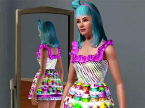 Os jogadores poderão criar versão da cantora pop no game 'The Sims 3' (Foto: Divulgação)