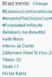 Trending Topics no Brasil às 17h05 (Foto: Reprodução)