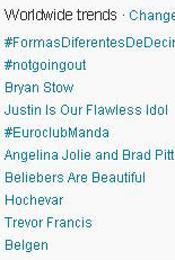 Trending Topics no Mundo, 17h37 (Foto: Reprodução)