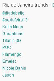 Trending Topics no Rio às 17h04 (Foto: Reprodução)