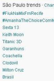 Trending Topics em SP às 17h17 (Foto: Reprodução)