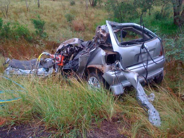 Motorista morreu em colisão frontal contra ônibus no RS (Foto: Rafael Ferreira/RBS TV)