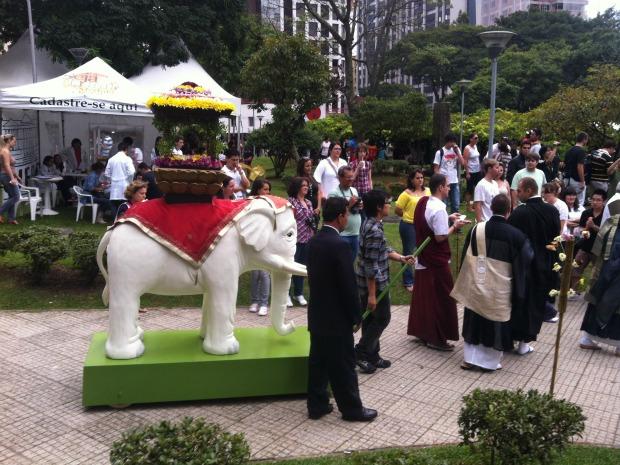 Hana Matsuri celebração (Foto: Lucas Laranjeiras/RPCTV)