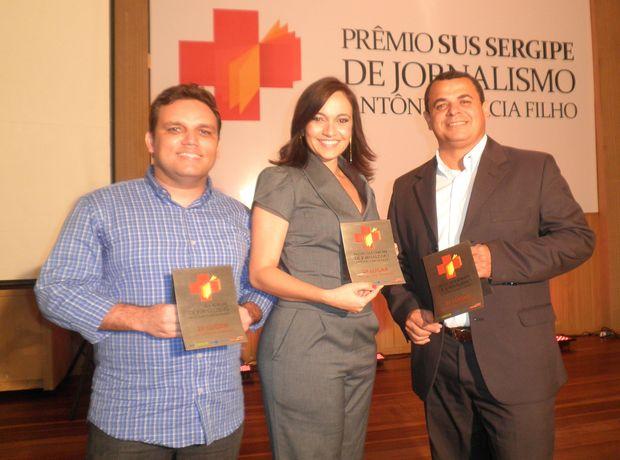Jornalistas do G1 e TV Sergipe conquistam prêmio em Aracaju (Foto: Marina Fontenele/G1 SE)