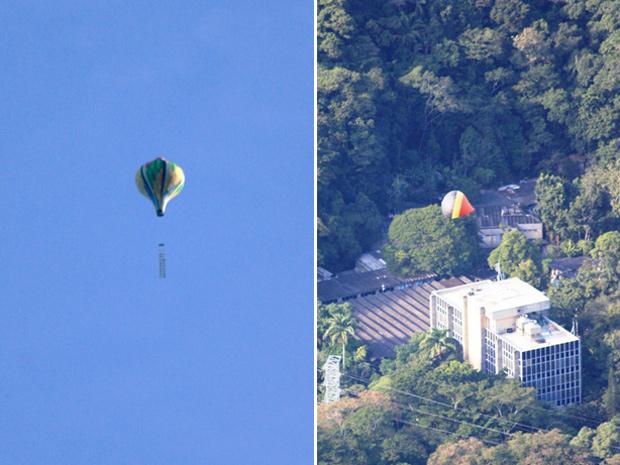 Balões são vistos no céu do Rio de Janeiro neste domingo (Foto: Marcos Teixeira Estrella/TV Globo)