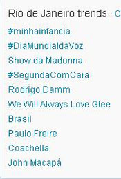 Trending Topics no Rio às (Foto: Reprodução)