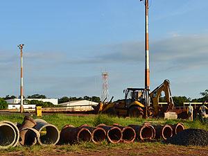 Obras começam no Aeroporto Bartolomeu de Gusmão em Araraquara (Foto: Felipe Turioni/G1)