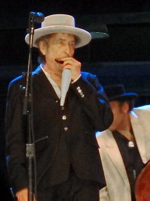 Bob Dylan e sua gaita (Foto: G1)