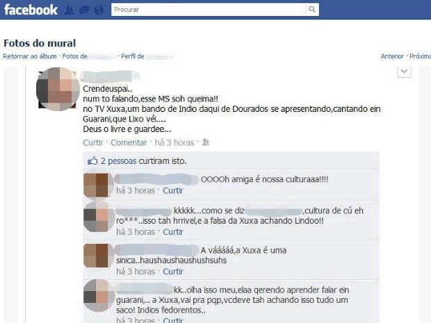 Autora das mensagens e as pessoas que as reproduziram também poderão ser chamadas a depor, diz MPF (Foto: Reprodução/Facebook)