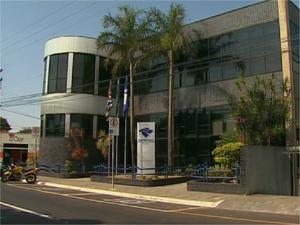 Prédio da Receita Federal em Franca, SP (Foto: Reprodução/EPTV)