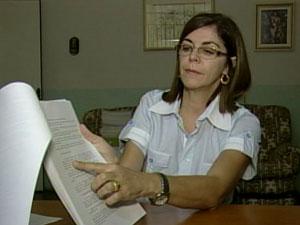 Coordenadora Edilma Barros disse cálculo é feito por aluno (Foto: Reprodução/TV Integração)