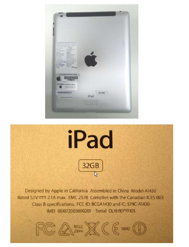 Anatel divulgou imagens do novo iPad usado para homologação (Foto: Divulgação)