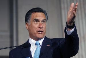 Mitt Romney durante discurso na Filadélfia (Foto: AFP)