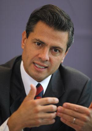 Enrique Peña durante entrevista na Cidade do México em 9 de abril (Foto: Claudia Daut/Reuters)