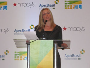 A vice-presidente de marketing da rede, Martine Reardon (Foto: Gabriela Gasparin/G1)