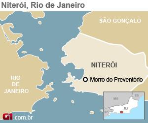 Morro do Preventório (Foto: Editoria de Arte/G1)