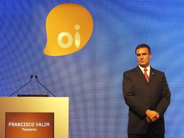 Francisco Valim fez a apresentação do plano de negócios da Oi (Foto: Bernardo Tabak/G1)
