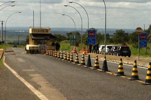 Guarida do presídio da Papuda, em Brasília (Foto: Natalia Godoy / G1)