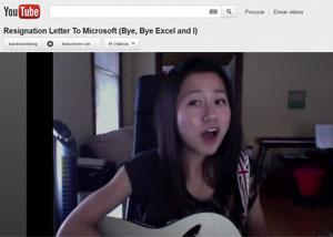 Karen Cheng gravou vídeo com música para pedir demissão da Microsoft (Foto: Reprodução)