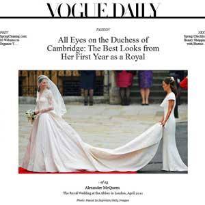 """Galeria de fotos de Kate Middleton no site da revista """"Vogue"""" (Foto: Reprodução)"""