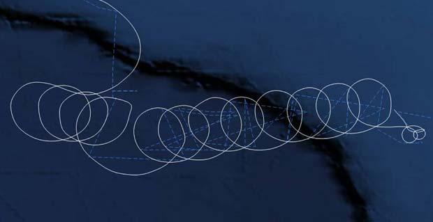 Imagem de radar mostra o trajeto feito pelo avião desgovernado nesta quinta-feira (19) (Foto: AFP)
