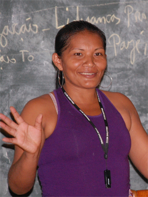 Francisca Oliveira de Lima Costa, professora indígena do Acre (Foto: Divulgação/Comissão Pró-Índio do Acre)