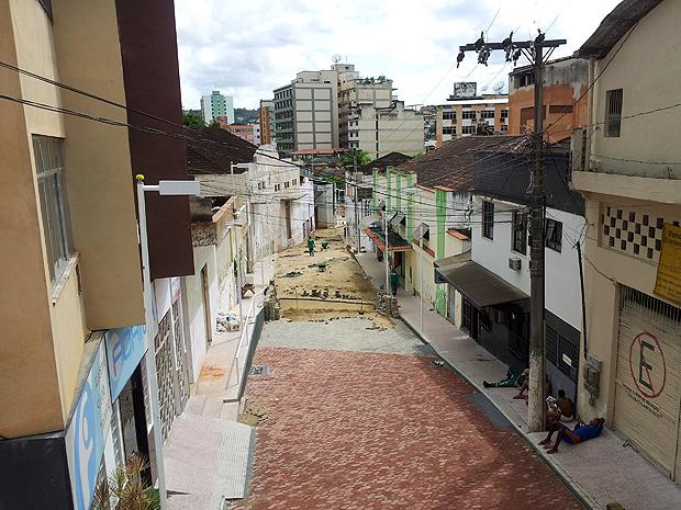 Obras no entorno da casa de Roberto Carlos têm investimento de R$ 800 mil para revitalizar o local (Foto: Amanda Monteiro/ G1 ES)