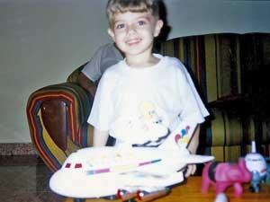 Paixão pelos aviões começou ainda na infância (Foto: Arquivo pessoal)