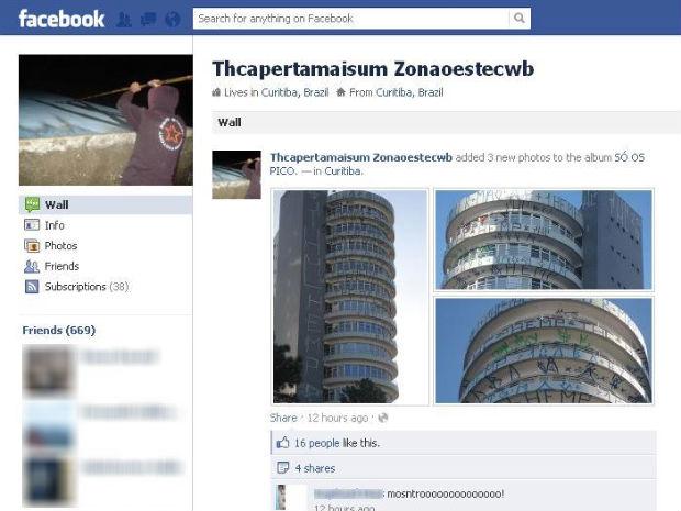 Print Screen Facebook pichador (Foto: Reprodução)