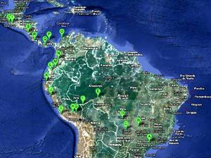 Motociclista quer conhecer diversos países da América Latina (Foto: Reprodução / Google Maps)